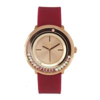 Loisir ρολόι 11L75-00270 με ροζ χρυσή μεταλλική κάσα και λουράκι από καουτσούκ.