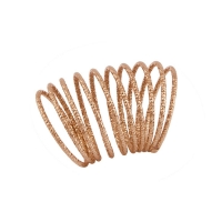 Oxette δαχτυλίδι 04X05-01296 από ροζ επιχρυσωμένο ασήμι 925ο