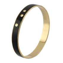 Loisir βραχιόλι 02L27-00159 από ανοξείδωτο ατσάλι (Stainless Steel) με ημιπολύτιμες πέτρες (Σμάλτο και Κρύσταλλοι Quartz) και Ion Plated Rose Gold