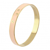 Loisir βραχιόλι 02L27-00160 από ανοξείδωτο ατσάλι (Stainless Steel) με ημιπολύτιμες πέτρες (Σμάλτο και Κρύσταλλοι Quartz) και Ion Plated Rose Gold