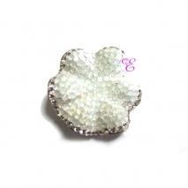 Loisir | Ασημένια καρφίτσα - μενταγιόν Loisir από επιπλατινωμένο ασήμι 925ο με ημιπολύτιμες πέτρες (Κρύσταλλοι Quartz). [06L01-00389]