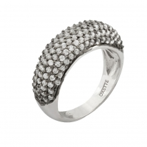 Oxette Sterling Silver Ring 04X01-02954 with Platinum Plating and semi precious stones (zirconia)