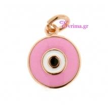 Loisir | Ασημένιο μενταγιόν Loisir από ροζ επιχρυσωμένο ασήμι 925ο με ημιπολύτιμες πέτρες (Σμάλτο). [05L05-00425]