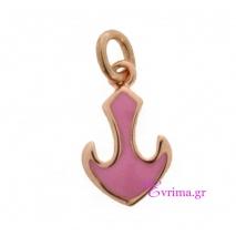 Loisir | Ασημένιο μενταγιόν Loisir από ροζ επιχρυσωμένο ασήμι 925ο με ημιπολύτιμες πέτρες (Σμάλτο). [05L05-00433]