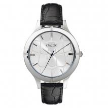 Oxette ρολόι με ατσάλινη κάσα και δερμάτινο λουράκι.  [11X06-00472]