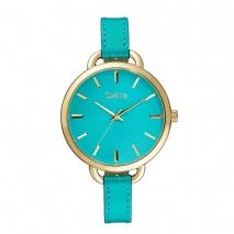 Oxette ρολόι με Gold κάσα και δερμάτινο λουράκι.  [11X65-00149]