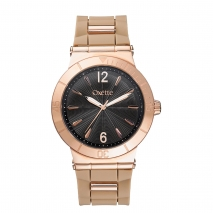 Oxette ρολόι με ροζ χρυσή κάσα και λουράκι από Καουτσούκ (Rubber).  [11X75-00227]