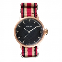 Oxette ρολόι με ροζ χρυσή κάσα και λουράκι. [11X65-00160]