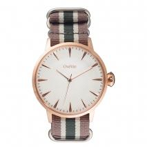 Oxette ρολόι με ροζ χρυσή κάσα και λουράκι. [11X65-00162] Wimbledon Λουράκι