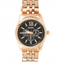 Angel Ρολόι από ροζ χρυσό ανοξείδωτο ατσάλι με μπρασελέ A.79673.31.02