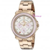 Juicy Couture ρολόι από ροζ χρυσό ανοξείδωτο ατσάλι με μπρασελέ 1901383