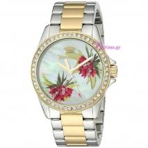 Juicy Couture ρολόι από δίχρωμο ανοξείδωτο ατσάλι με μπρασελέ 1901425