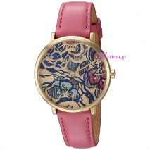 Juicy Couture ρολόι από χρυσό ανοξείδωτο ατσάλι με ροζ δερμάτινο λουράκι 1901456
