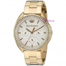 Juicy Couture ρολόι από χρυσό ανοξείδωτο ατσάλι με μπρασελέ 1901479