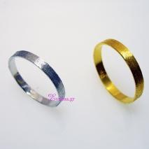 Χειροποίητο δαχτυλίδι (Βεράκι) από επιπλατινωμένο/επιχρυσωμένο ασήμι 925ο. [IJ-010370-SG]