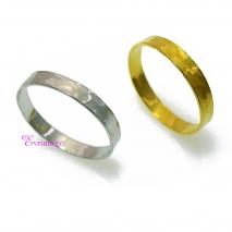 Χειροποίητο δαχτυλίδι (Βεράκι) από επιπλατινωμένο/επιχρυσωμένο ασήμι 925ο. [IJ-010371-SG]