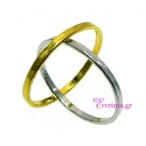 Χειροποίητο δαχτυλίδι (Βεράκι) από επιπλατινωμένο/επιχρυσωμένο ασήμι 925ο. [IJ-010372-SG]
