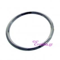Χειροποίητο δαχτυλίδι (Βεράκι) από επιπλατινωμένο ασήμι 925ο. [IJ-010373-S]