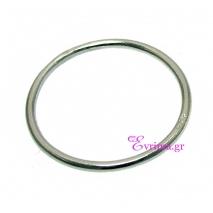 Χειροποίητο δαχτυλίδι (Βεράκι) από επιπλατινωμένο ασήμι 925ο. [IJ-010374-S]