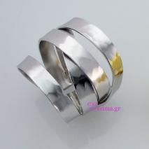 Χειροποίητο δαχτυλίδι (Πλεκτό) από επιπλατινωμένο ασήμι 925ο. [IJ-010376-S]