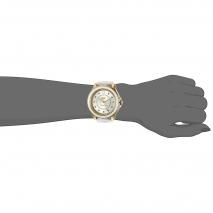 Juicy Couture ρολόι από χρυσό ανοξείδωτο ατσάλι με λευκό λουράκι σιλικόνης 1901416 εικόνα 2