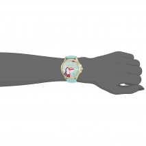 Juicy Couture ρολόι από χρυσό ανοξείδωτο ατσάλι με γαλάζιο λουράκι σιλικόνης 1901426 εικόνα 2