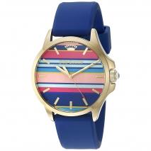 Juicy Couture ρολόι από χρυσό ανοξείδωτο ατσάλι με μπλε λουράκι σιλικόνης 1901428