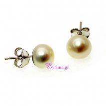 Χειροποίητα σκουλαρίκια από επιπλατινωμένο ασήμι 925ο με ημιπολύτιμες πέτρες (Πέρλες). IJ-020303