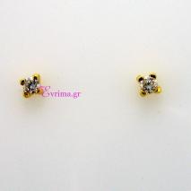 Χειροποίητα σκουλαρίκια από επιχρυσωμένο ασήμι 925ο με ημιπολύτιμες πέτρες (Ζιργκόν). IJ-020308