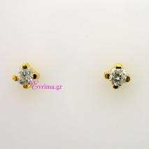 Χειροποίητα σκουλαρίκια από επιχρυσωμένο ασήμι 925ο με ημιπολύτιμες πέτρες (Ζιργκόν). IJ-020309