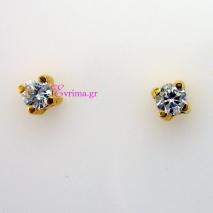 Χειροποίητα σκουλαρίκια από επιχρυσωμένο ασήμι 925ο με ημιπολύτιμες πέτρες (Ζιργκόν). IJ-020310