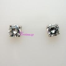 Χειροποίητα σκουλαρίκια από επιπλατινωμένο ασήμι 925ο με ημιπολύτιμες πέτρες (Ζιργκόν). IJ-020312