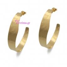 Χειροποίητα σκουλαρίκια (Κρίκοι) από επιχρυσωμένο ασήμι 925ο. IJ-020327