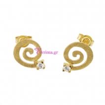 Χειροποίητα σκουλαρίκια από επιχρυσωμένο ασήμι 925ο με ημιπολύτιμες πέτρες (Ζιργκόν). IJ-020333