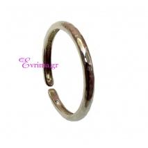 Χειροποίητο δαχτυλίδι (Βεράκι) από επιπλατινωμένο ασήμι 925ο. IJ-010396