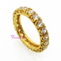 Χειροποίητο δαχτυλίδι από επιχρυσωμένο ασήμι 925ο με ημιπολύτιμες πέτρες (Ζιργκόν). IJ-010399