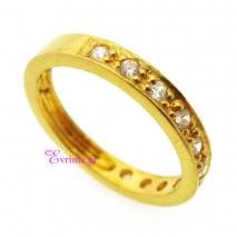 Χειροποίητο δαχτυλίδι από επιχρυσωμένο ασήμι 925ο με ημιπολύτιμες πέτρες (Ζιργκόν). IJ-010401