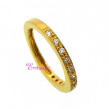 Χειροποίητο δαχτυλίδι από επιχρυσωμένο ασήμι 925ο με ημιπολύτιμες πέτρες (Ζιργκόν). IJ-010402