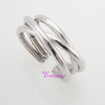 Χειροποίητο δαχτυλίδι (Πλεκτό) από επιπλατινωμένο ασήμι 925ο. IJ-010406