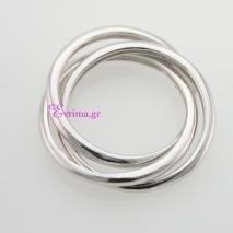 Χειροποίητο δαχτυλίδι (Τρίβερο) από επιπλατινωμένο ασήμι 925ο. IJ-010407