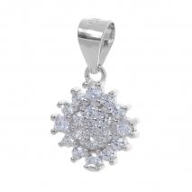 Σετ κοσμημάτων Prince Silvero (μενταγιόν και σκουλαρίκια αστέρι) από επιπλατινωμένο ασήμι 925ο με ημιπολύτιμες πέτρες (ζιργκόν). YF-SE001-SET μενταγιόν μέρος του σετ