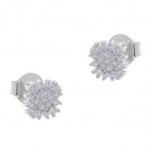Σετ κοσμημάτων Prince Silvero (μενταγιόν και σκουλαρίκια αστέρι) από επιπλατινωμένο ασήμι 925ο με ημιπολύτιμες πέτρες (ζιργκόν). YF-SE001-SET σκουλαρίκια μέρος του σετ