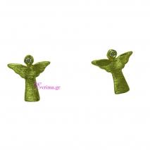 Χειροποίητα σκουλαρίκια (Αγγελάκια) από επιχρυσωμένο ασήμι 925ο με ημιπολύτιμες πέτρες (Ζιργκόν). IJ-020341