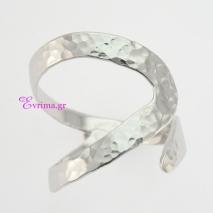 Χειροποίητο δαχτυλίδι (Σφυρήλατο) από επιπλατινωμένο ασήμι 925ο. IJ-010348