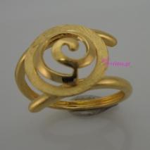 Χειροποίητο δαχτυλίδι από επιχρυσωμένο ασήμι 925ο. IJ-010410