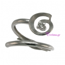 Χειροποίητο δαχτυλίδι από επιπλατινωμένο ασήμι 925ο με ημιπολύτιμες πέτρες (Ζιργκόν). IJ-010412