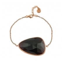 Oxette βραχιόλι 02X05-01565 από ροζ επιχρυσωμένο ασήμι 925ο με ημιπολύτιμες πέτρες (Κρύσταλλοι Quartz).