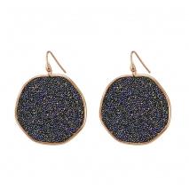 Oxette σκουλαρίκια 03X05-01750 από ροζ επιχρυσωμένο ασήμι 925ο με ημιπολύτιμες πέτρες (Κρύσταλλοι Quartz).