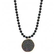 Oxette κολιέ 01X01-04454 από ροζ επιχρυσωμένο ασήμι 925ο με ημιπολύτιμες πέτρες (Κρύσταλλοι Quartz).