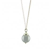 Oxette κολιέ 01X05-02022 από ροζ επιχρυσωμένο ασήμι 925ο με ημιπολύτιμες πέτρες (Πέρλες).